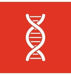 The dna icon DNA symbol Flat vector image