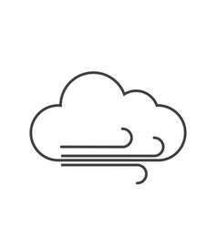 Thin line windy icon vector