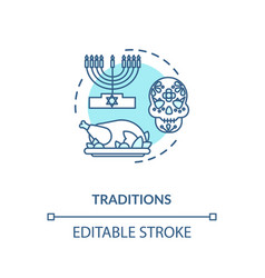 Tradition turquoise concept icon vector