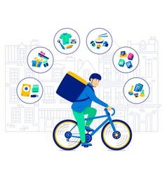 transportation bicycle clothing and products vector image