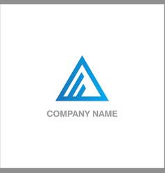 triangle line logo vector image