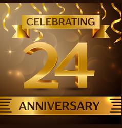 Twenty four years anniversary celebration design vector