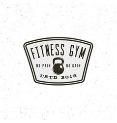 Vintage fitness gym logo retro styled sport vector