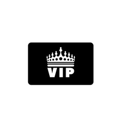 vip credit card flat icon vector image