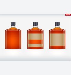 Whiskey bottle set mockup vector