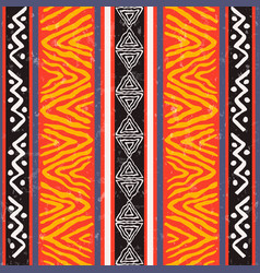 Wild ethnic african art background pattern vector