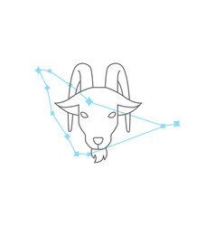 zodiac signs capricorn line icon simple element vector image