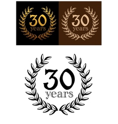 30 years anniversary wreath vector image vector image