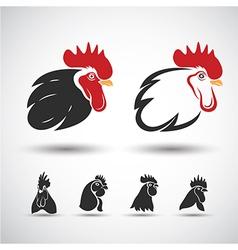 Chicken head3 vector image vector image