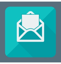 Mail icon open envelope Flat design vector image vector image