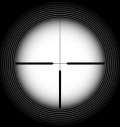 Rifle sight vector image