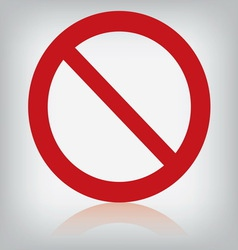 sign forbidden isolated vector image
