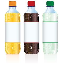 Soft Drink Bottles vector image vector image