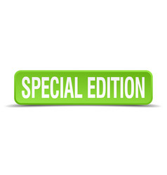 Special edition green 3d realistic square vector