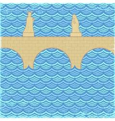 The Old Bridge vector image