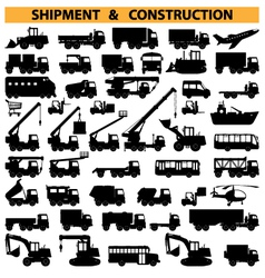 commercial vehicles pictograms vector image vector image
