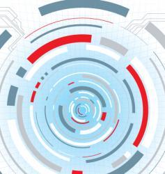 digital escape red vector image