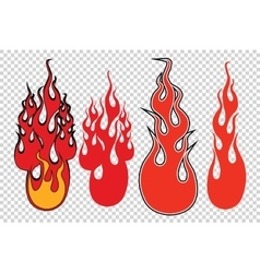 Flame fire background to simulate transparency vector image vector image