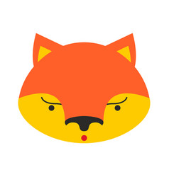 fox face cute she-fox head element for kids design vector image