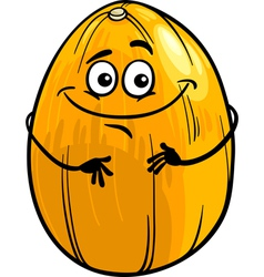 funny melon fruit cartoon vector image vector image
