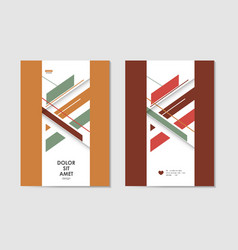 brochures template with abstract design lines vector image vector image