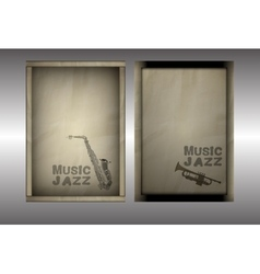 musical background with a paper brochure vector image