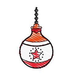 ornamental ball icon image vector image vector image