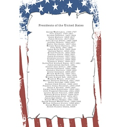 Presidents of the United States vector image
