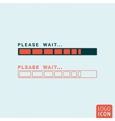 Status bar icon isolated vector image