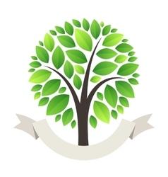 Stylized Green Tree Logo vector image