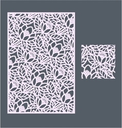 The template pattern for decorative panel3 vector image vector image
