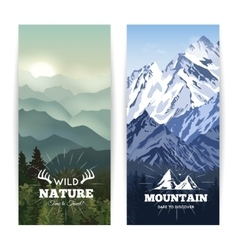 Vertical Mountains Banners vector image vector image