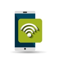 white smartphone wifi network digital vector image vector image