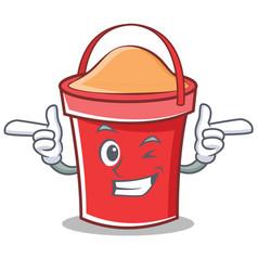 wink bucket character cartoon style vector image vector image