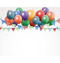 Colorful Birthday Balloons vector image