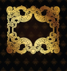 Gold Frame On Brown vector image vector image