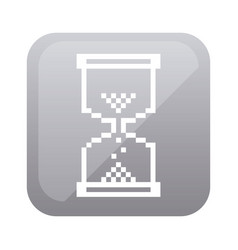 grayscale square with hourglass icon vector image