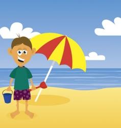 man at beach vector image vector image