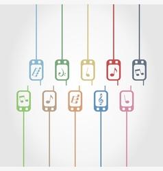 Phone music vector image