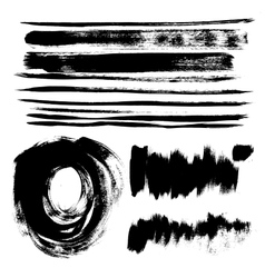 Strokes of black paint vector image
