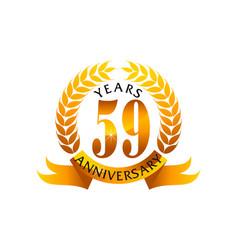 59 years ribbon anniversary vector image