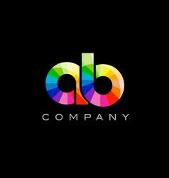 Ab a b alphabet letter mosaic design vector