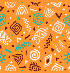 Abstract african art tribal seamless pattern vector