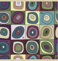 abstract circles seamless pattern for your design vector image