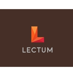Abstract trend polygon letter L logo design vector image