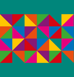 Abstract triangles colorful geometric background vector