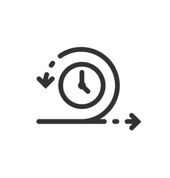 Agile icon in flat style flexible on white vector