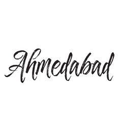 Ahmedabad text design calligraphy vector