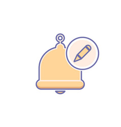 Alarm alert bell icon call vector