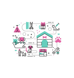 Animal shelter vector